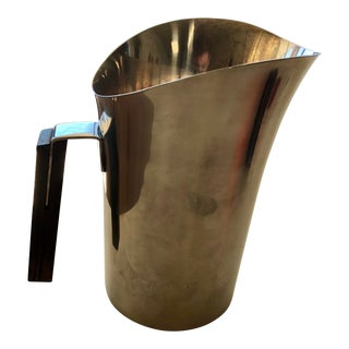 Vintage Mid-Century Danish Lundtofte Stainless Steel Pitcher For Sale