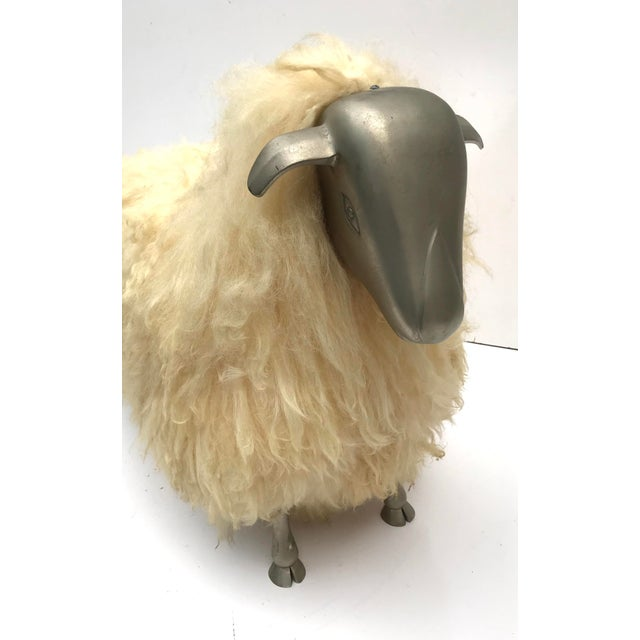 1970's Lalanne Style Sheep Ottoman Stool For Sale - Image 9 of 11