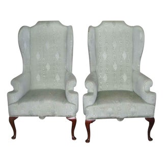 Georgian Wingback Chairs - A Pair For Sale