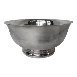 Large Vintage Silverplate Bowl For Sale