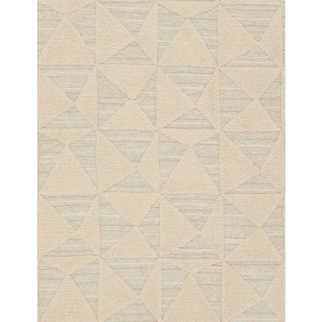 Schumacher Schumacher Patterson Flynn Martin Gerrits Handwoven Wool Silk Geometric Rug For Sale - Image 4 of 5