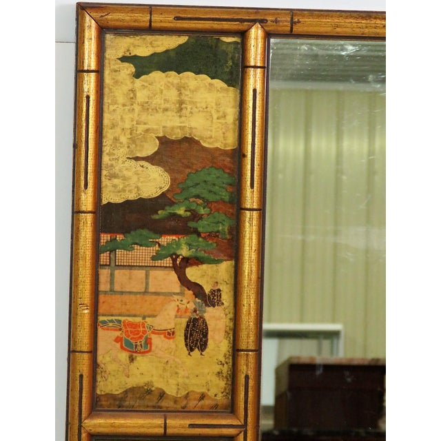 Asian Style Faux Bamboo Mirror - Image 3 of 4
