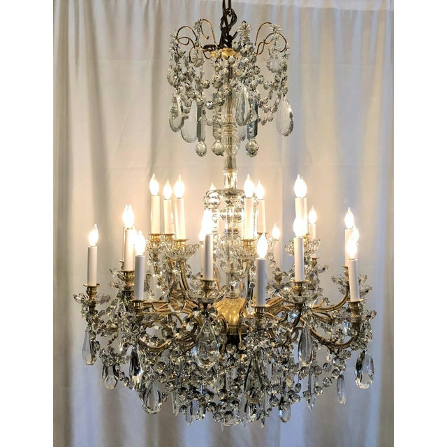 Distinguished antique french 24 light old baccarat crystal and antique french 24 light old baccarat crystal and ormolu chandelier circa 1890s aloadofball Image collections