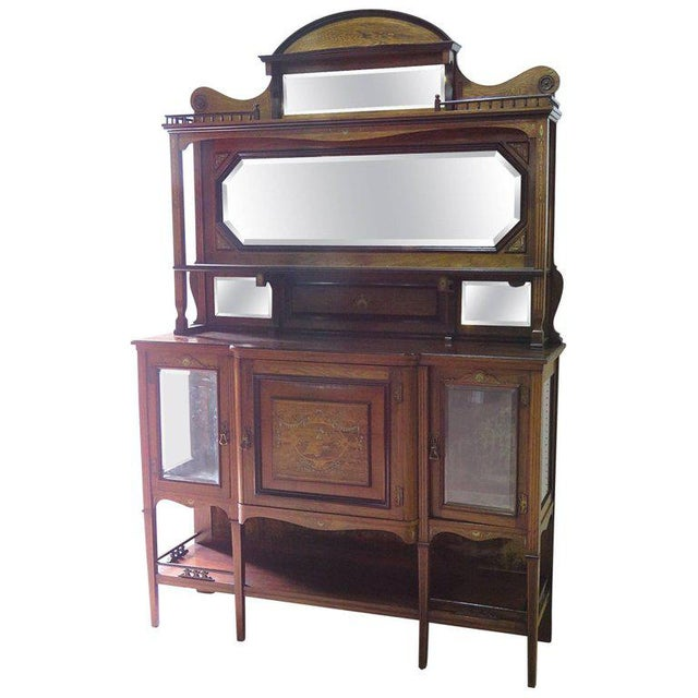 Edwardian Style Inlaid Sideboard With Superstructure For Sale - Image 12 of 12