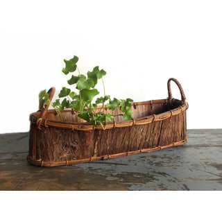 Vintage Rustic Tree Bark Basket Preview