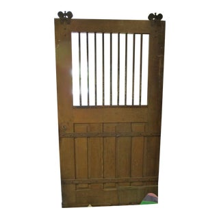 1940's Antique Solid Oak Stable Door For Sale