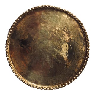 Anglo-Raj Brass Tray Platter For Sale