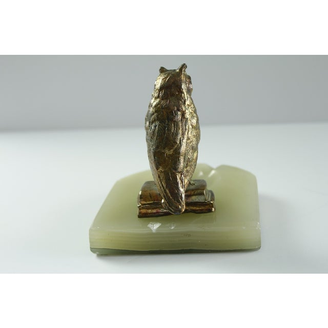 Vintage Wise Owl Upon Onyx Ash Tray - Image 6 of 6