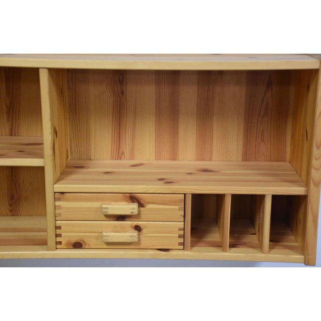 Wood Idé Møbler Solid Pine Hanging Bookshelf Cabinet Mid Century Modern For Sale - Image 7 of 8