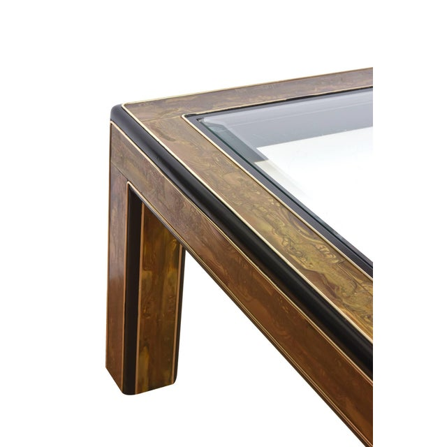 Bernhard Rohne 1970s Mid-Century Modern Bernhard Rohne for Mastercraft Ebonized Wood Cocktail Table For Sale - Image 4 of 10