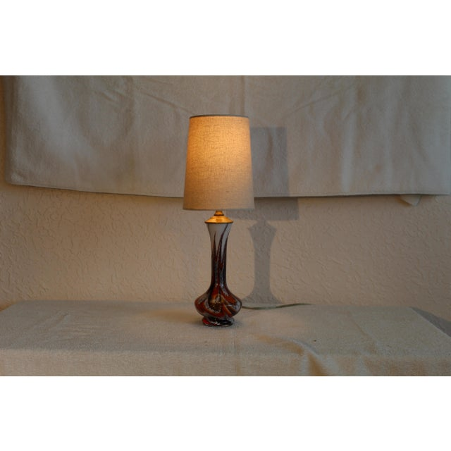 Mid Century Modern Petite Murano Table Lamp For Sale - Image 4 of 9
