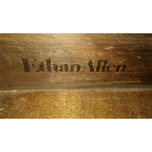 Ethan Allen 1960s British Colonial Ethan Allen Pine Old Tavern Drop Leaf Table For Sale - Image 4 of 6