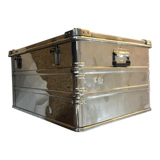 German Industrial Polished Metal Zarges Trunk