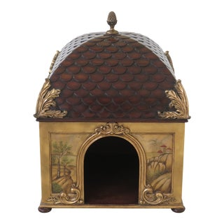 Maitland Smith Paint Decorated Cat Pet House For Sale