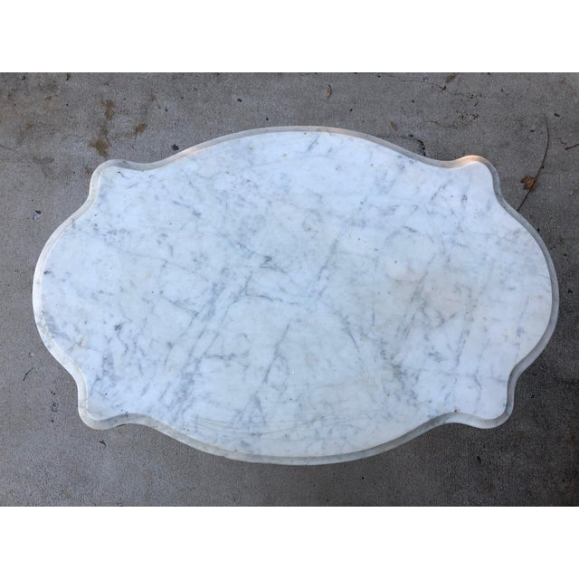 19th Century Traditional Marble Topped Table For Sale - Image 9 of 11