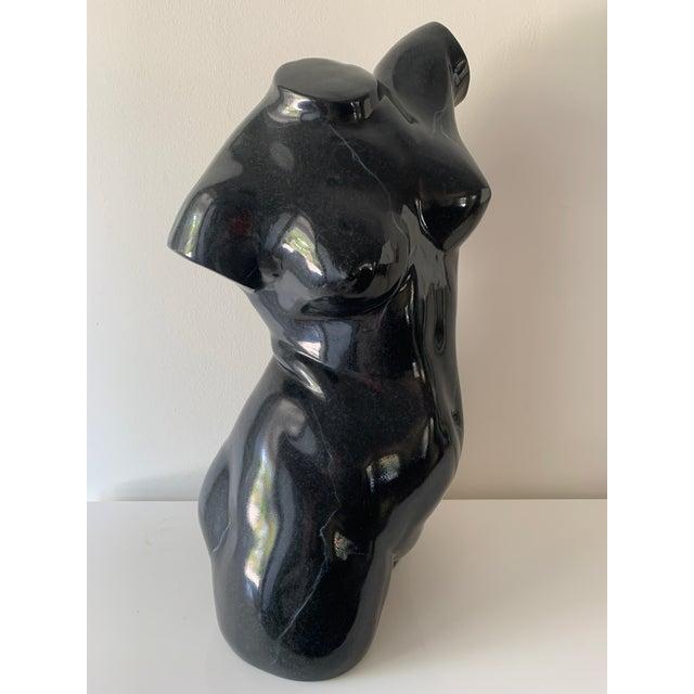 Black Large Scale Nude Female Torso Sculpture For Sale - Image 8 of 13