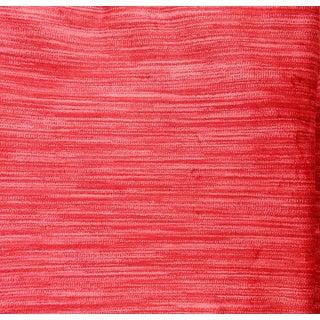 Vintage Strie Raspberry Velvet Fabric Sample For Sale