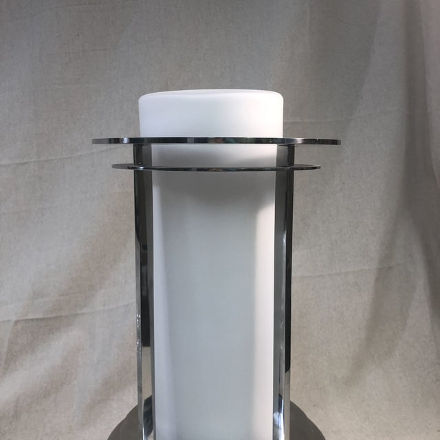 Art Deco Kichler Pacific Edge Outdoor Post Lantern in Stainless Steel For Sale - Image 3 of 9