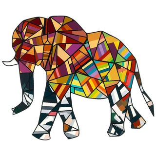 """""""Lucky Elephant"""" Painting by Mauro Oliveira For Sale"""