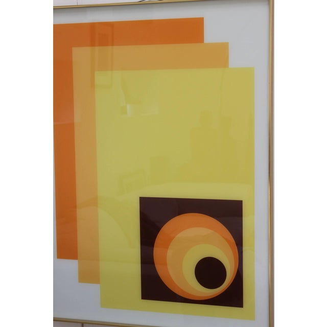 Yellow 1970s Modern Op Wall Art by Turner For Sale - Image 8 of 11