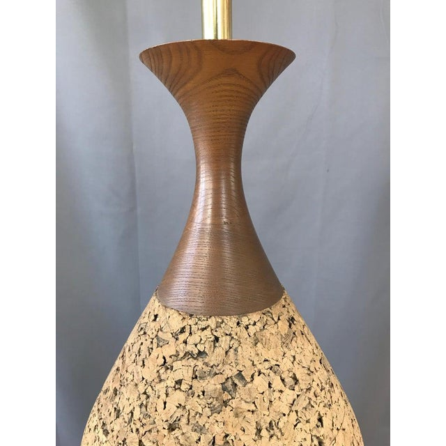 Monumental, 1970s Cork Lamp For Sale - Image 9 of 13