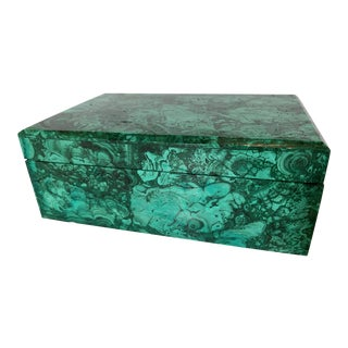 Contemporary Malachite Rectangular Box For Sale