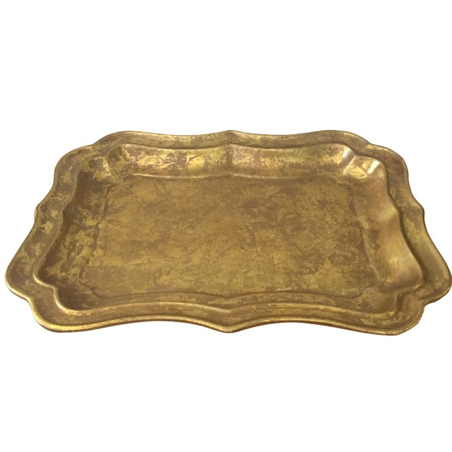 Gilded Ceramic Tray - Image 1 of 5