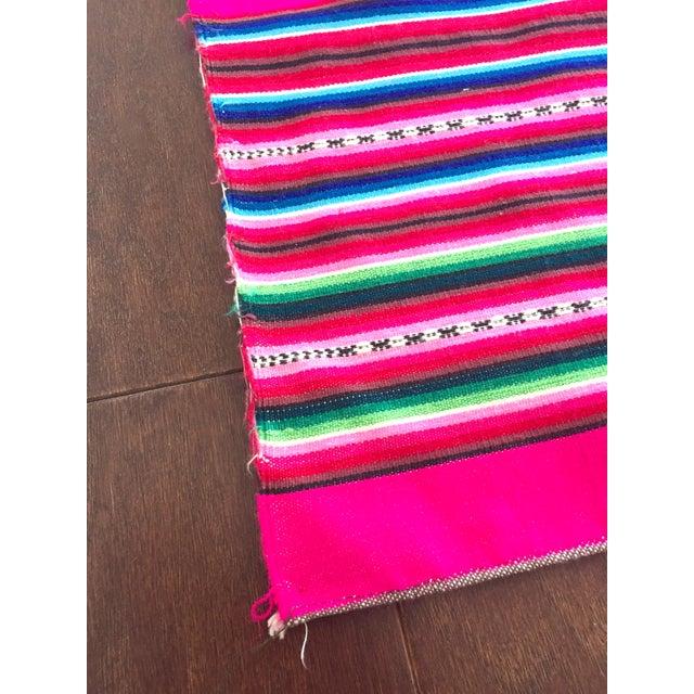 Vintage Bolivian Handwoven Blanket - Image 6 of 7