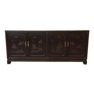 Mario Buatta for John Widdicomb Chinoiserie Sideboard Buffet For Sale