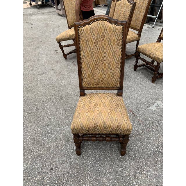 1900s French Louis XIII Style Solid Walnut Dining Chairs - Set of 6 For Sale - Image 11 of 13