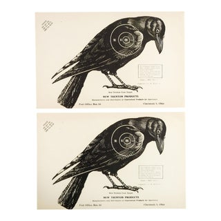 1960s Crow Raven Trenton Paper Targets - A Pair For Sale