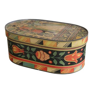 20th Century Art Nouveau Band Hat Box For Sale