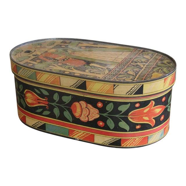 20th Century Art Nouveau Band Hat Box For Sale