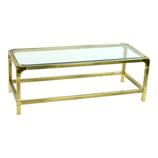 Vintage Mastercraft Brass Coffee Table For Sale