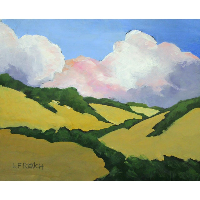 Paint California Malibu Hills Morning Clouds Landscape Lynne French For Sale - Image 7 of 7