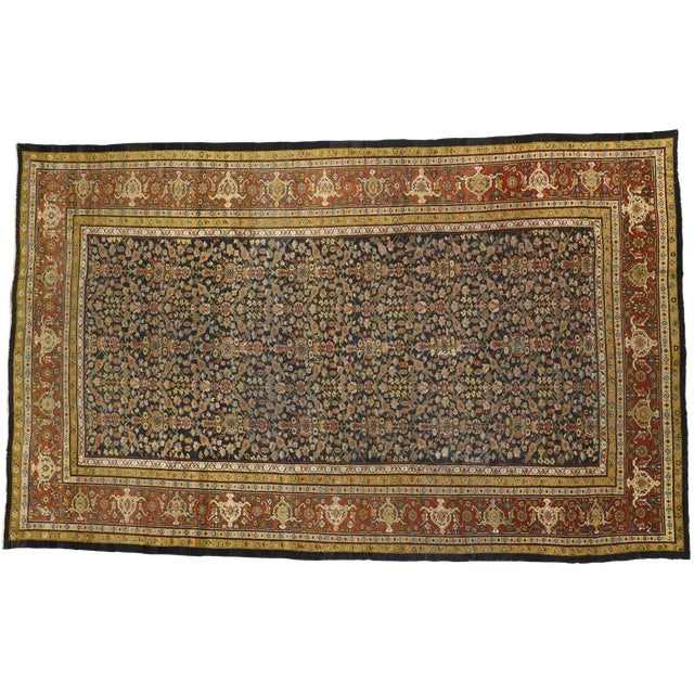 Late 19th Century Antique Persian Sultanabad Palace Rug- 10′2″ × 16′4″ For Sale