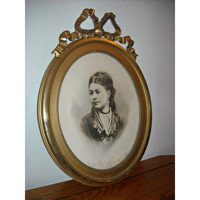 Antique Picture in Gilt Oval Frame - Image 4 of 5