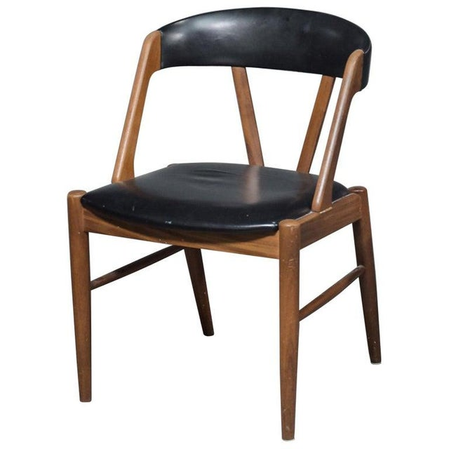 Black Rare Danish Armchair in the Style of Kai Kristiansen For Sale - Image 8 of 8