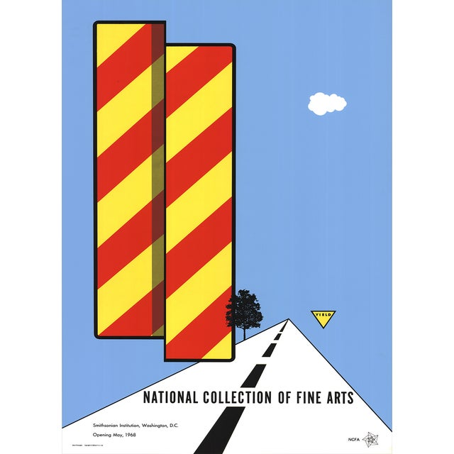 1968 Vintage 'Yield' Poster by Allan d'Arcangelo - Image 1 of 2