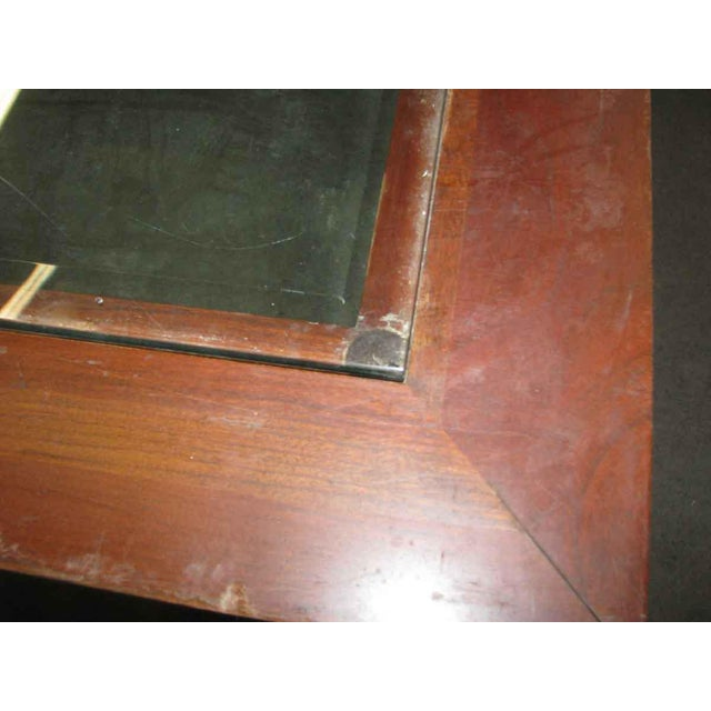 Vintage Square Glass Top Coffee Table For Sale - Image 6 of 6
