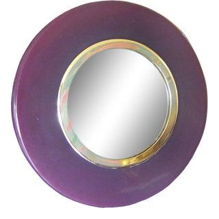 Art Deco Period Eggplant Colored Bakelite Vanity Mirror For Sale