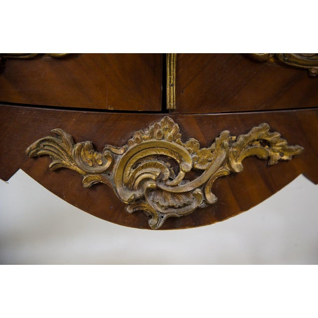 19th Century Antique French Vernis Martin Style Marble Top and Bronze Commode For Sale - Image 10 of 13