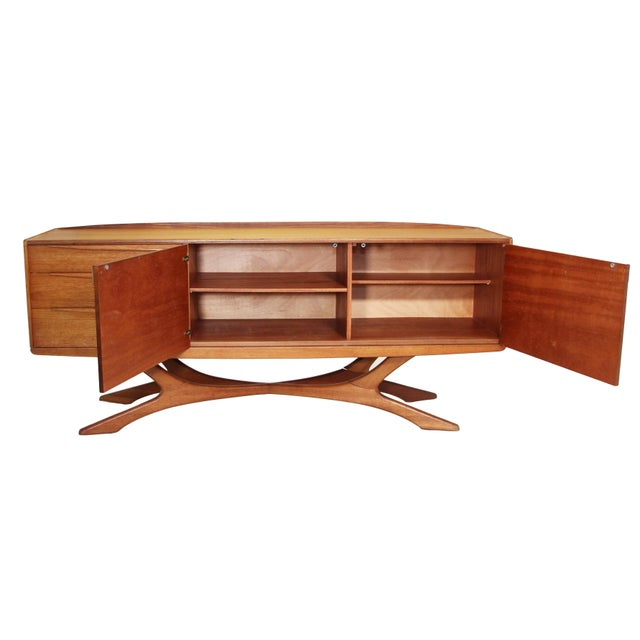 Stunning and very hard to find credenza by Beithcraft. Only a limited number of these magnificent credenzas were made. The...