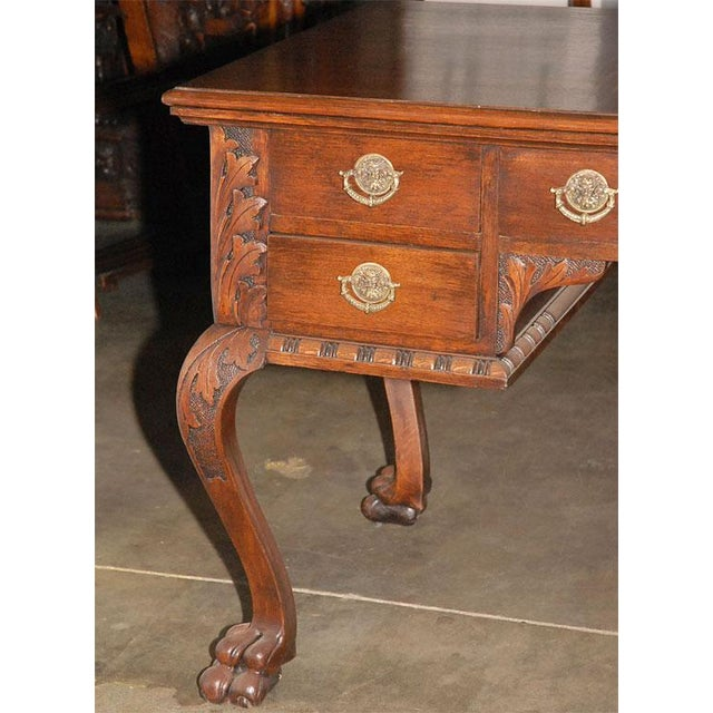 Brown Ladies Partners Desk For Sale - Image 8 of 9