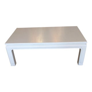 Karl Springer Style Linen Wrapped Coffee Table