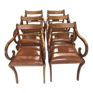 Vintage Regency Armchairs - Set of 8