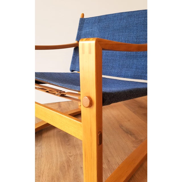 1970s Newly-Upholstered Borge Jensen Danish Safari Sling Chairs - a Pair For Sale - Image 5 of 10