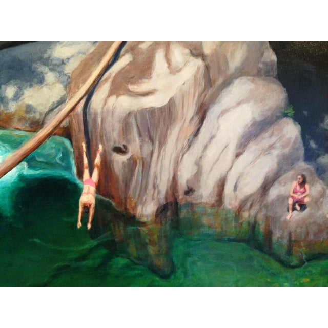 2010s Bathers at a Vermont Swimming Hole. Painting by Stephen Remick For Sale - Image 5 of 8