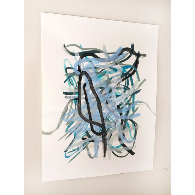 Original painting by Seattle contemporary artist Jessalin Beutler completed in 2019. Acrylic on paper, signed and dated on...