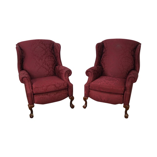 Hancock & Moore Chippendale Wing Chairs - Pair - Image 1 of 10